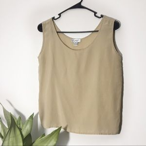100% Silk Sleeveless Blouse Size S